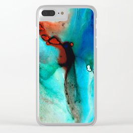 Modern Abstract Art - Color Rhapsody - Sharon Cummings Clear iPhone Case