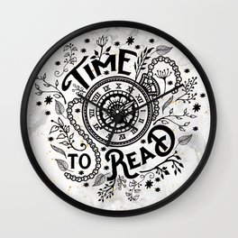 Time to Read - Black Wall Clock