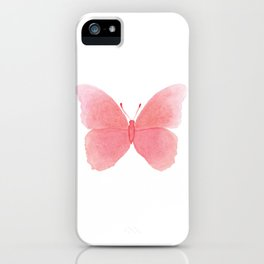 Watermelon pink butterfly iPhone Case