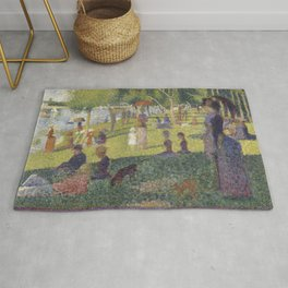 Georges Seurat's A Sunday Afternoon on the Island of La Grande Jatte Rug