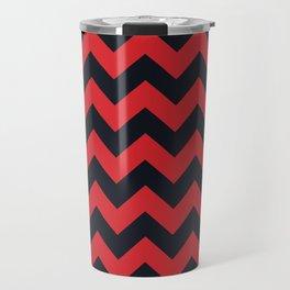 Chevrons Red & Black Travel Mug