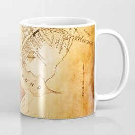 Allentown, New Jersey Map and Mill by Ericka O'Rourke Coffee Mug