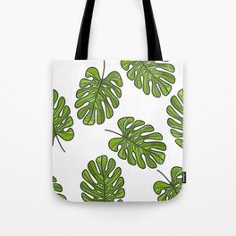 UrbanNesian Green Monstera Leaf Tote Bag