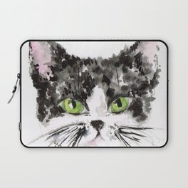 KITTY LOVE Black and White Kitty Laptop Sleeve