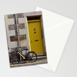 Yellow Door and Bike Stationery Cards