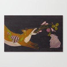Fox and Rabbit Canvas Print