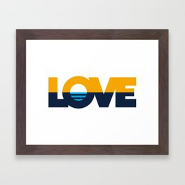 LOVE - People's Flag of Milwaukee Framed Art Print