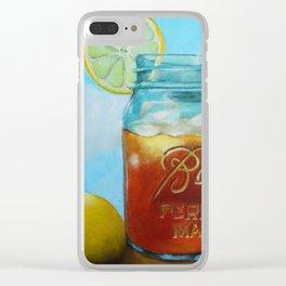 Tea and Lemon Clear iPhone Case