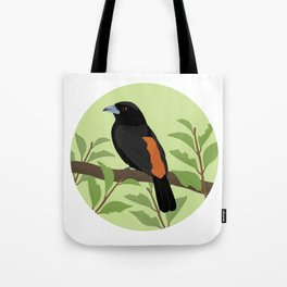 Flame-rumped Tanager Tote Bag
