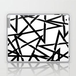 Interlocking Black Star Polygon Shape Design Laptop & iPad Skin