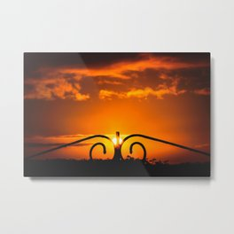 Sunset at the Crooked Gate Metal Print