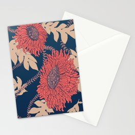 Fictitious Floral Print Stationery Cards