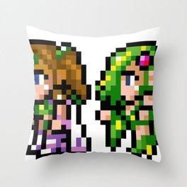 Final Fantasy II - Rosa and Rydia Throw Pillow