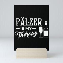 Palatinate red wine therapy wine love wine saying Mini Art Print