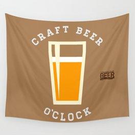 Craft Beer O'Clock Wall Tapestry