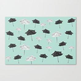 Umbrellas. Canvas Print