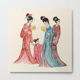 Ancient Chinese ladies painting Metal Print