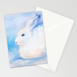 Snow Rabbit Stationery Cards