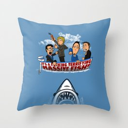 Fish Punch Throw Pillow