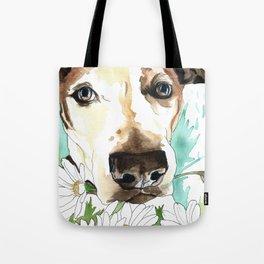 Watercolor Wildflowers & her Bestie Tote Bag