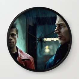 Edward Norton and Brad Pitt Wall Clock