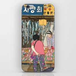jagalchi busan fish market iPhone Skin