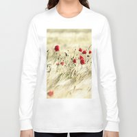 poem Long Sleeve T-shirts featuring A POPPY  POEM by Stephanie Koehl