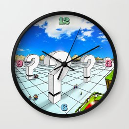 In the Valley of the Big Questions Wall Clock