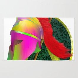 Spartan Helmet Colorful Rug
