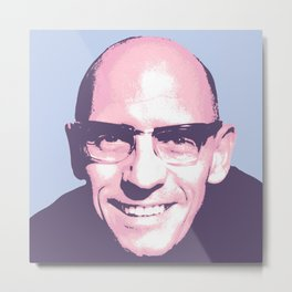 Michel Foucault Metal Print