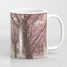 Geisha among Cherry Blossom trees Coffee Mug
