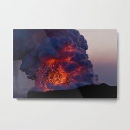 Kilauea Volcano at Kalapana 6 Metal Print