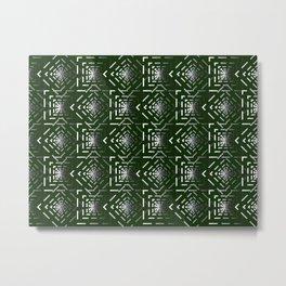 Rotate squares Green Metal Print