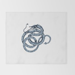 Norse Dragon Throw Blanket