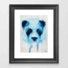 Sad Panda Framed Art Print