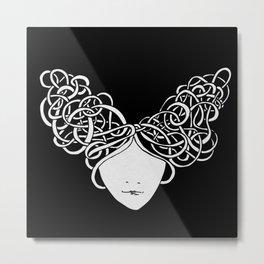 Iconia Girls - Isabella Black Metal Print