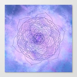 Waterolor Mandala FLower Canvas Print