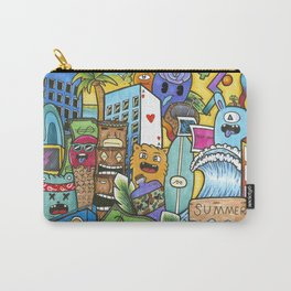 The Fruit Ninja Gang Extra Large Graffiti Style Pop Art Print Carry-All Pouch