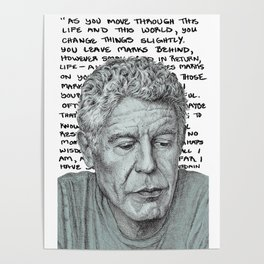 Anthony Bourdain travel quote Poster