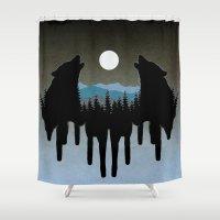 wolves Shower Curtains featuring Wolves by Viktor Macháček
