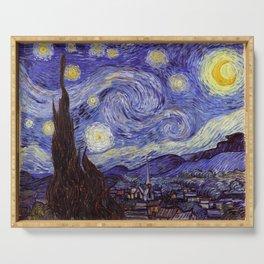 Vincent Van Gogh Starry Night Serving Tray