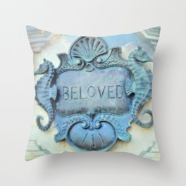 Seahorse Romantic Soul Mates Throw Pillow