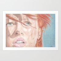 fifth element Art Prints featuring The Fifth Element by JadeJonesArt