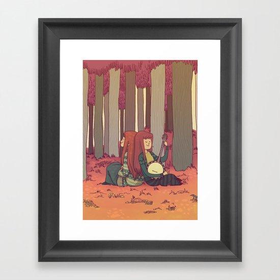 A P P L E P E E L S Framed Art Print