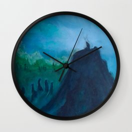 A Humble Place To Sit and Burn Wall Clock