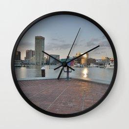 Landscape Harbor Wall Clock