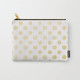 Abstract geometrical white gold gradient polka dots Carry-All Pouch