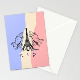 Pray for Paris  Stationery Cards