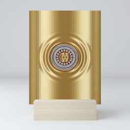 Golden Series with Diamond Ring Mini Art Print