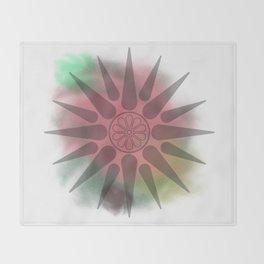 Macedonian watercolor Throw Blanket